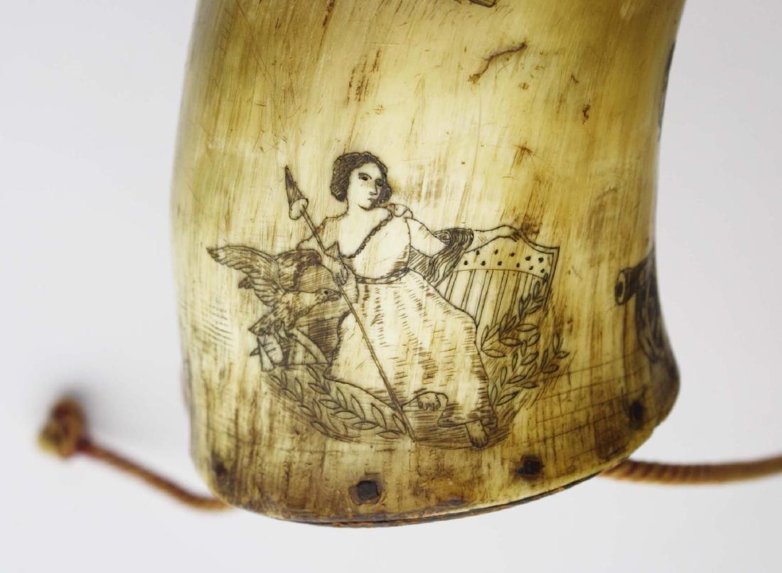 1850's era decorated powder horn - 7