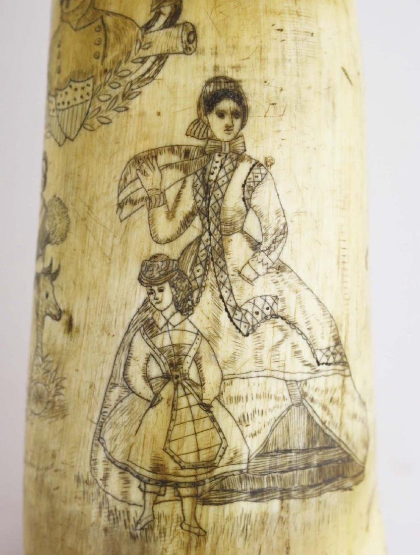 1850's era decorated powder horn - 8