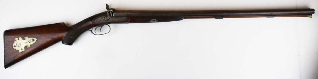 Percussion cap dbl barrel shot gun - 2
