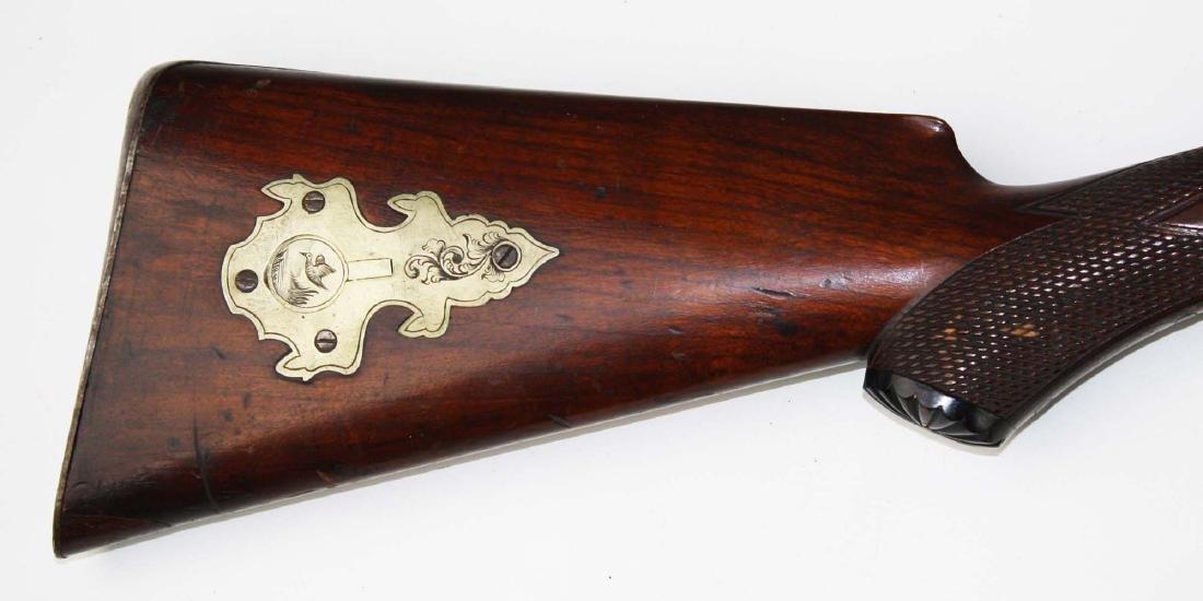 Percussion cap dbl barrel shot gun - 4