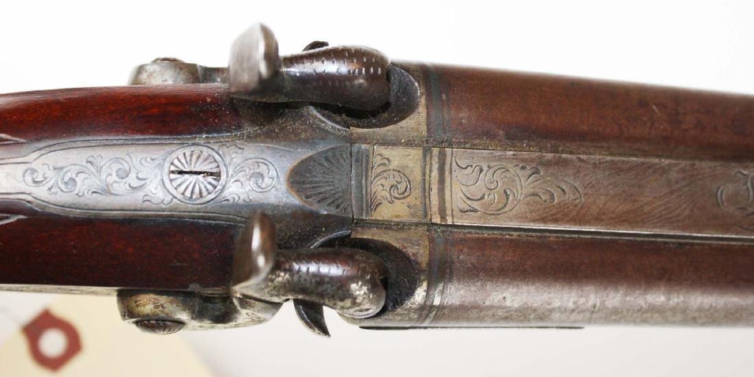 Percussion cap dbl barrel shot gun - 8