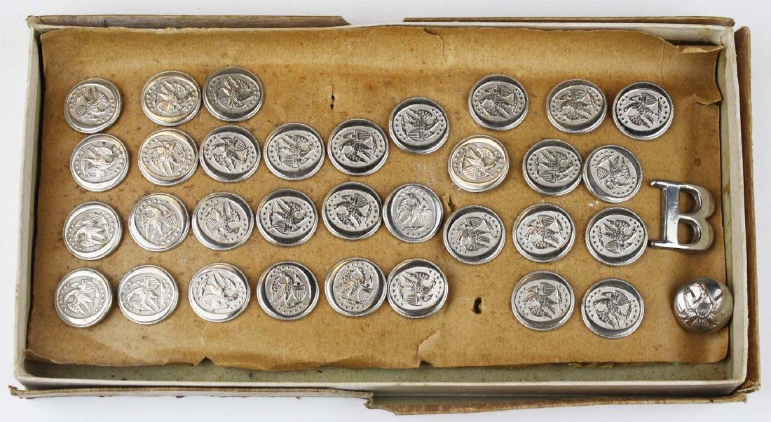 1830's English mfg silver plated militia buttons