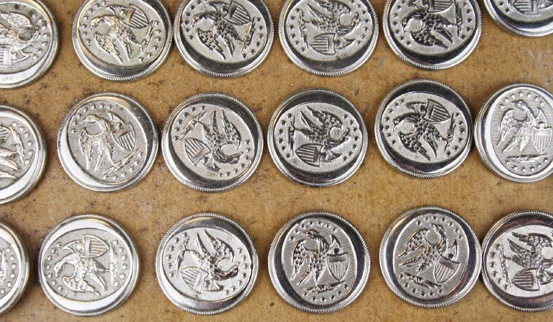 1830's English mfg silver plated militia buttons - 2
