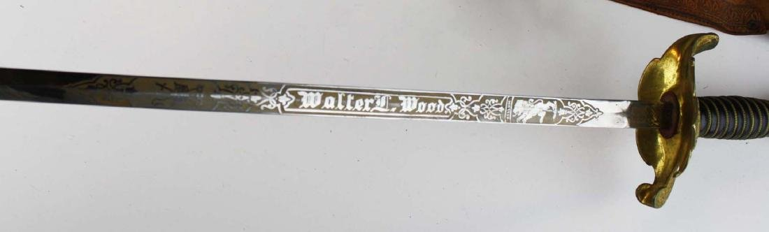 Odd Fellows dress sword w/ scabbard - 4