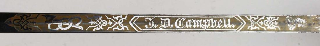 Odd Fellows dress sword w/ scabbard - 9