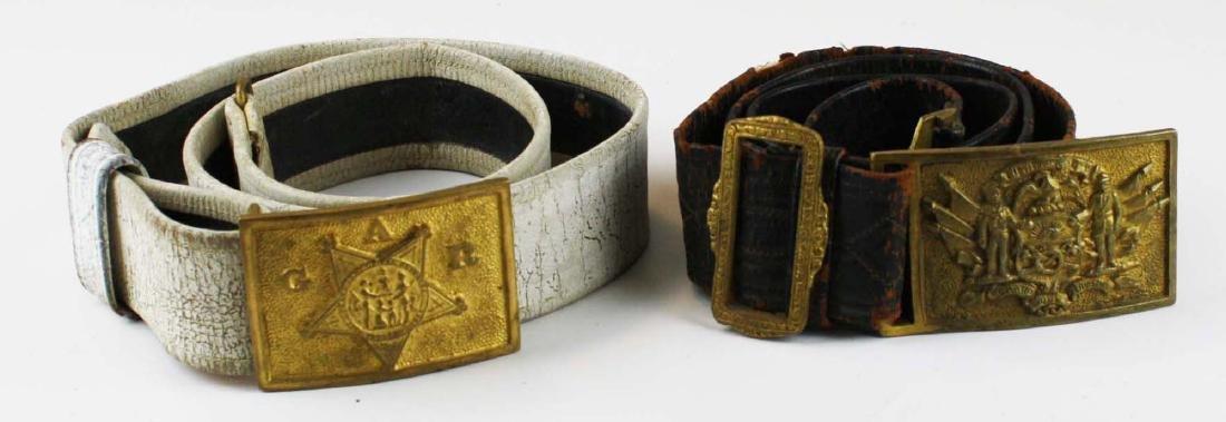 GAR & Sons of Veterans belts w/ buckles