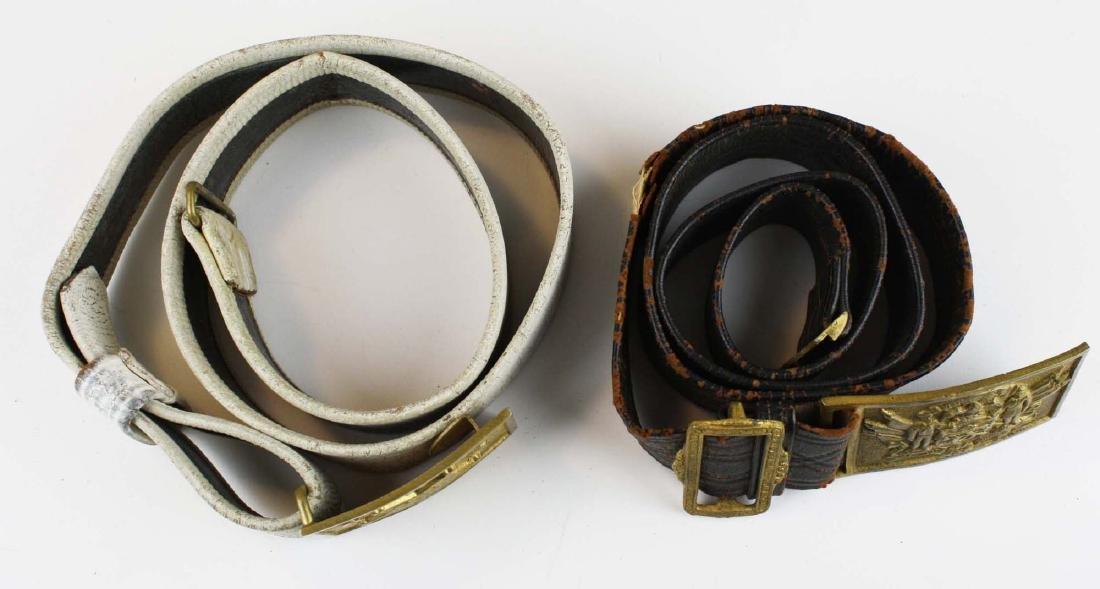 GAR & Sons of Veterans belts w/ buckles - 2