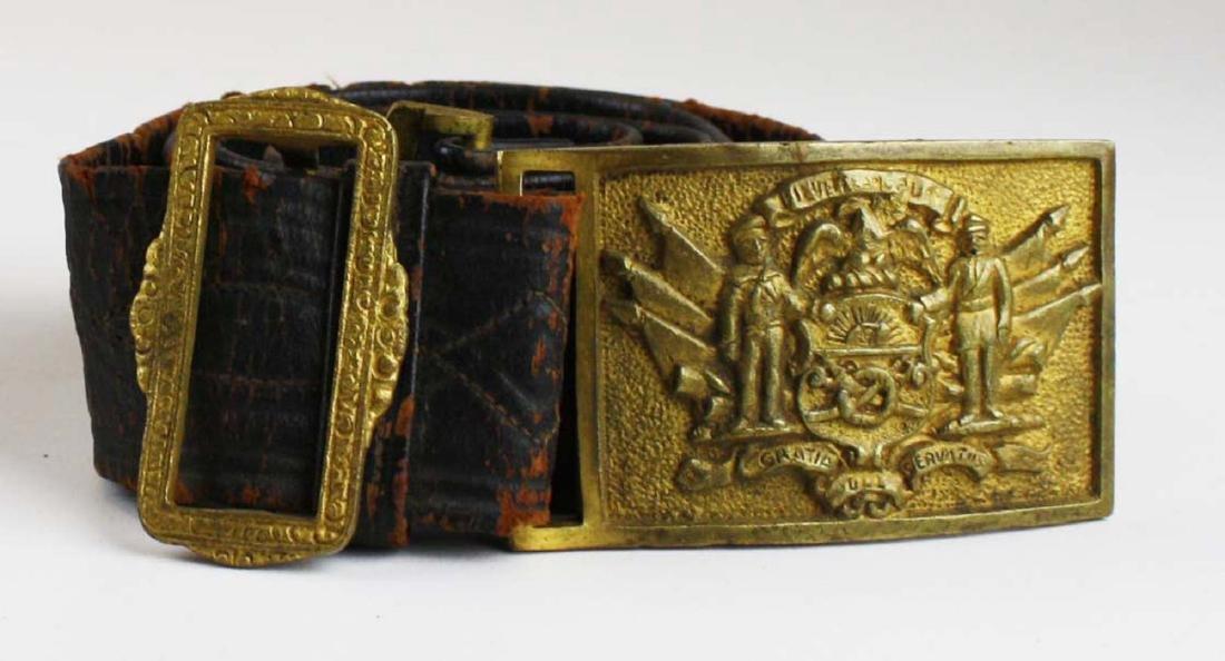 GAR & Sons of Veterans belts w/ buckles - 3
