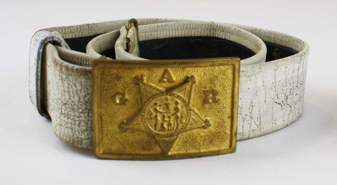 GAR & Sons of Veterans belts w/ buckles - 4