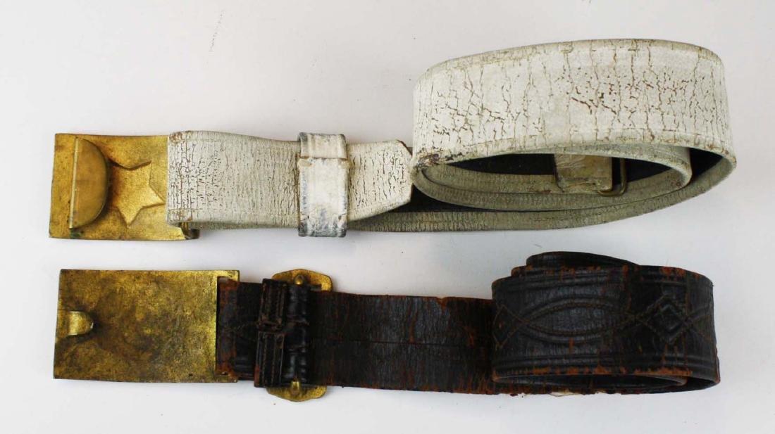 GAR & Sons of Veterans belts w/ buckles - 5