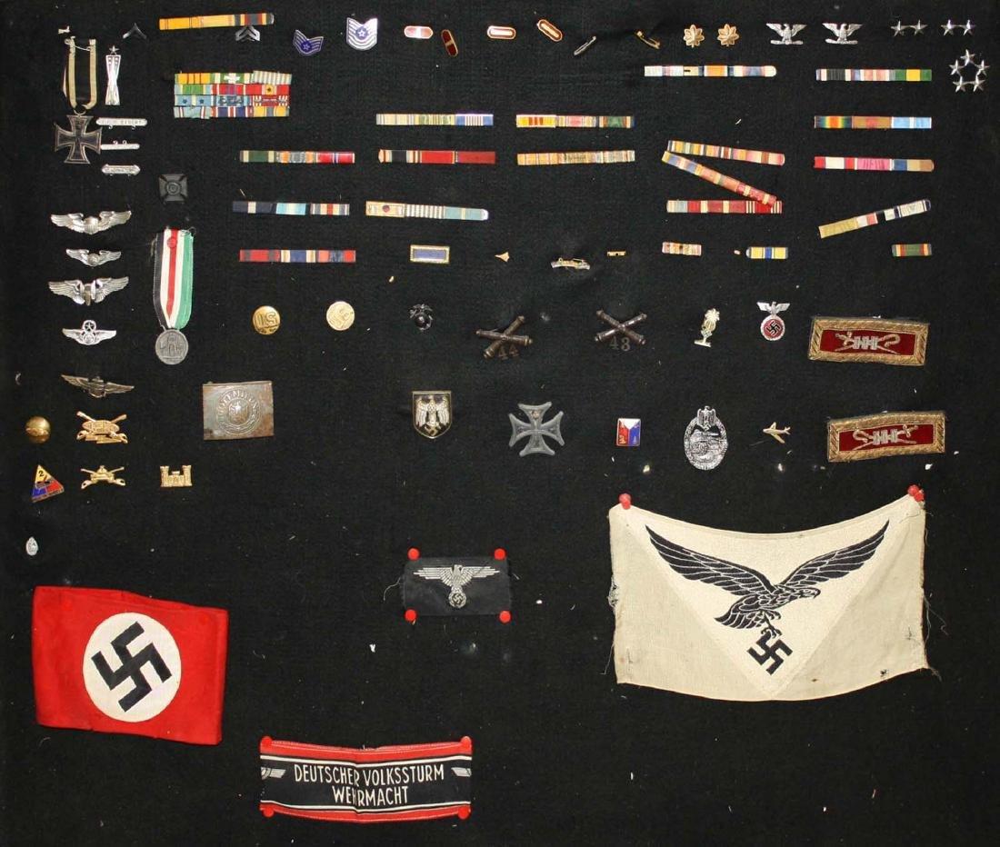 German WWII Nazi & American insignia