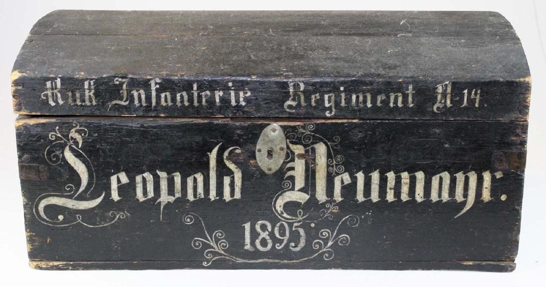 1895 German Infantry Regt trunk