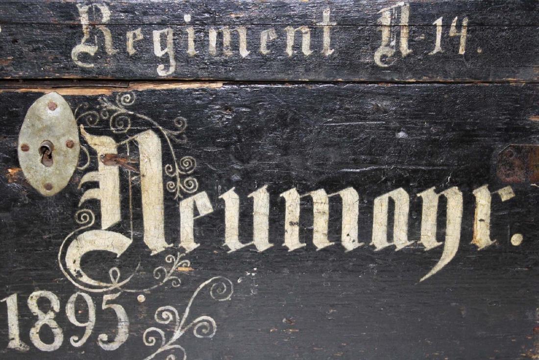 1895 German Infantry Regt trunk - 6