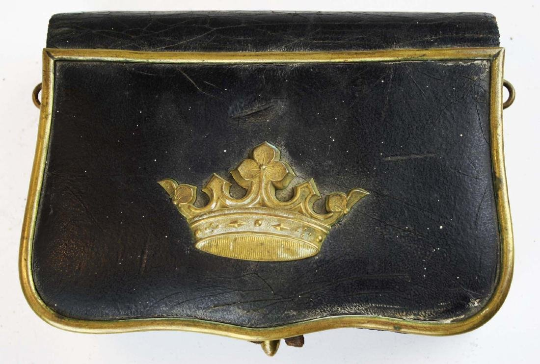 late 19th c Crown covered cartridge box