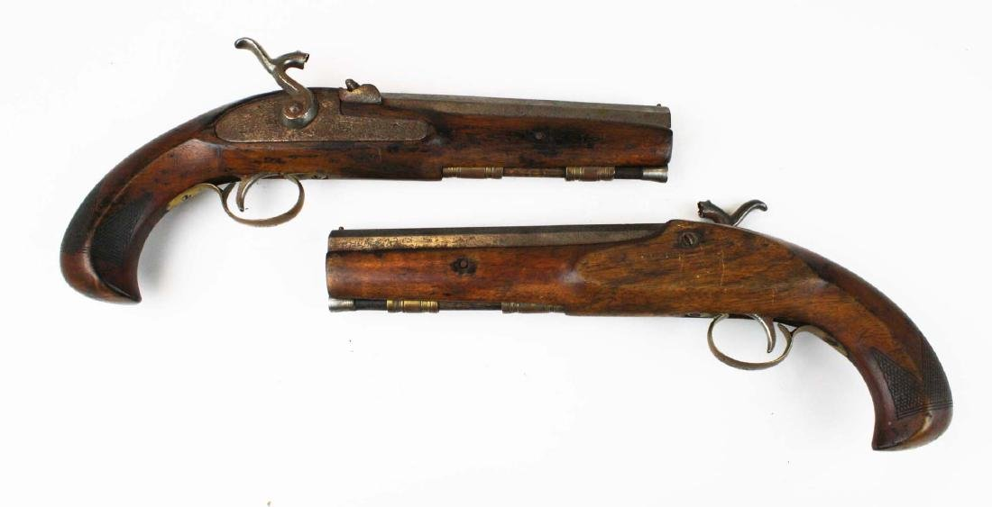 pair of percussion cap pistols .45 cal.