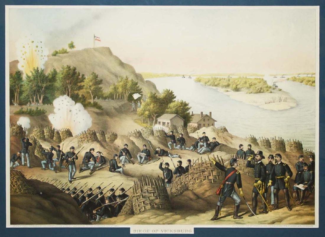1888 Kurz & Allison Siege of Vicksburgh