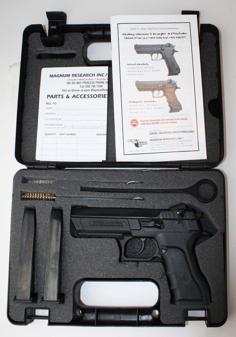 Israel Weapons Industries Desert Eagle Pistol in 9mm - 8