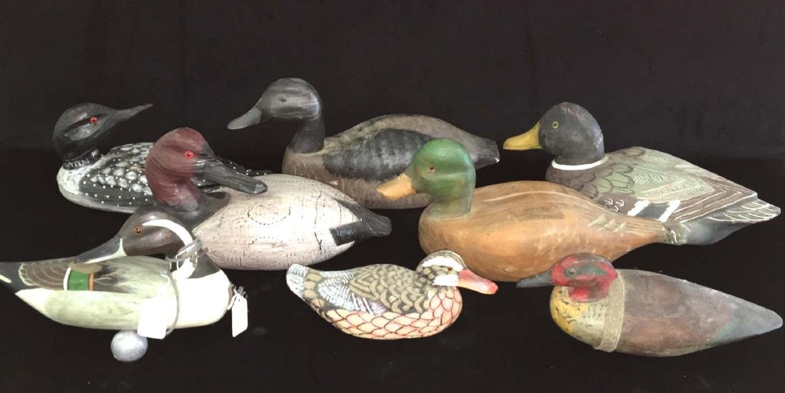 Group of 7 artisan decoys