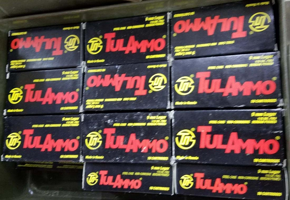 1000 rounds of Tulammo 9mm Parabellum/luger