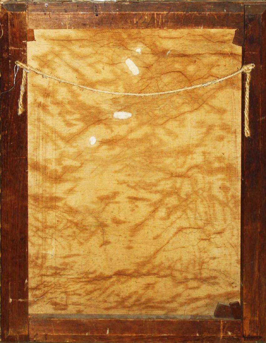 19th c Adirondack fisherman oil on canvas - 2