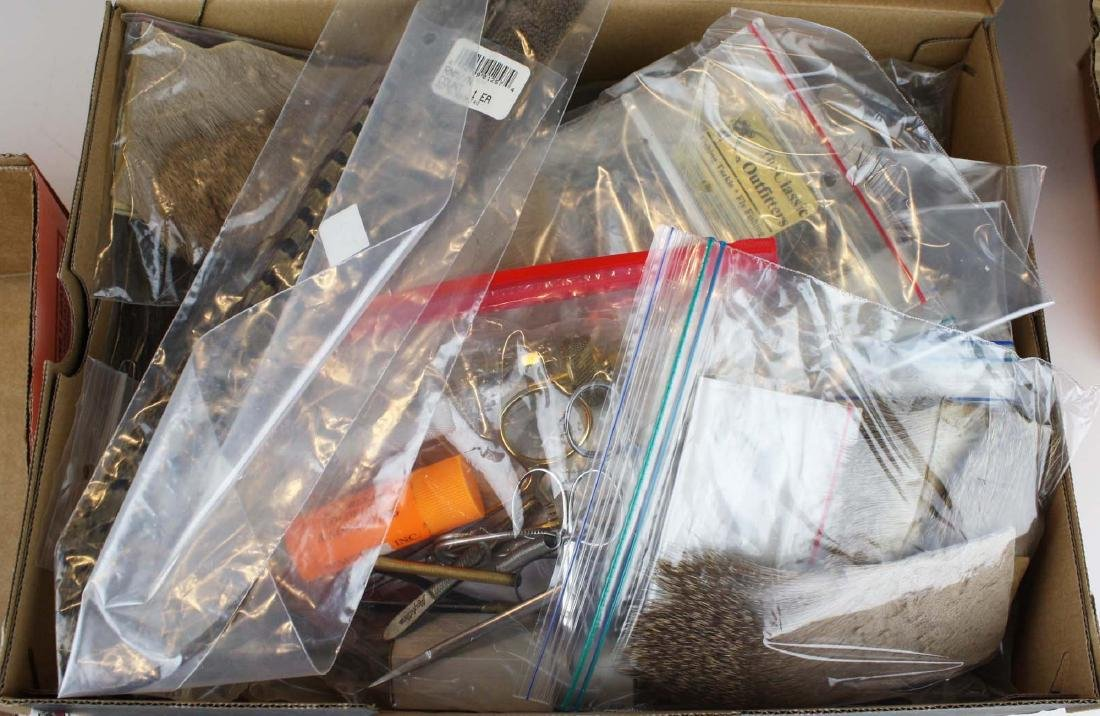 Two fly tying vices and box of accessories. - 2