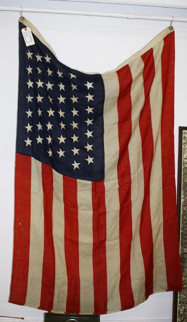 vintage 1896 US 45 star flag - 5