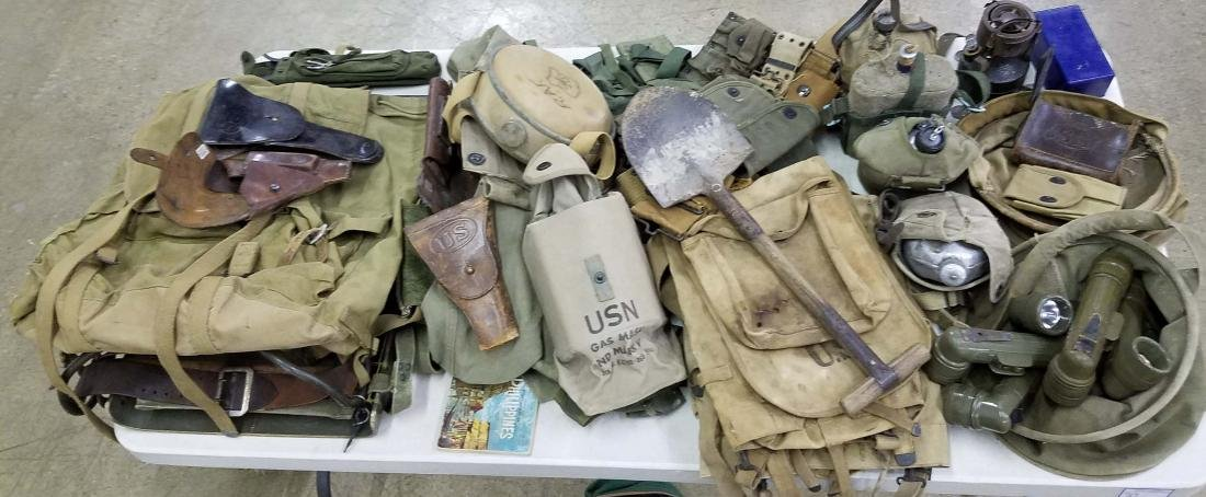 Large table lot of US Military material