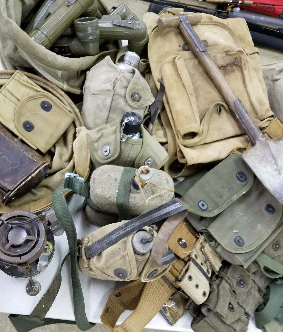 Large table lot of US Military material - 4