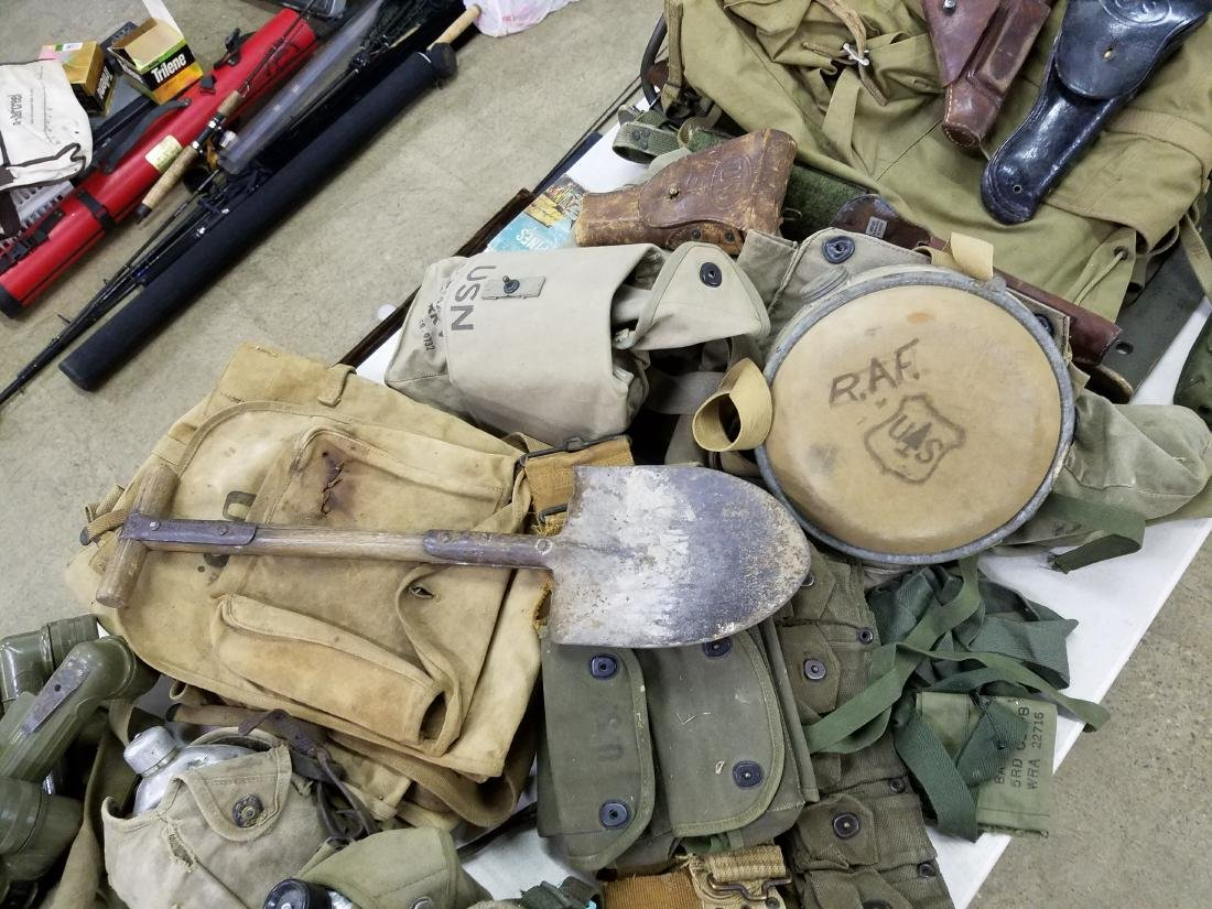 Large table lot of US Military material - 5