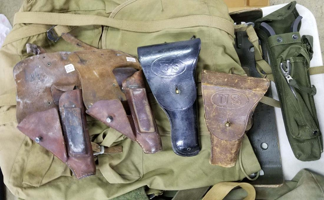 Large table lot of US Military material - 6