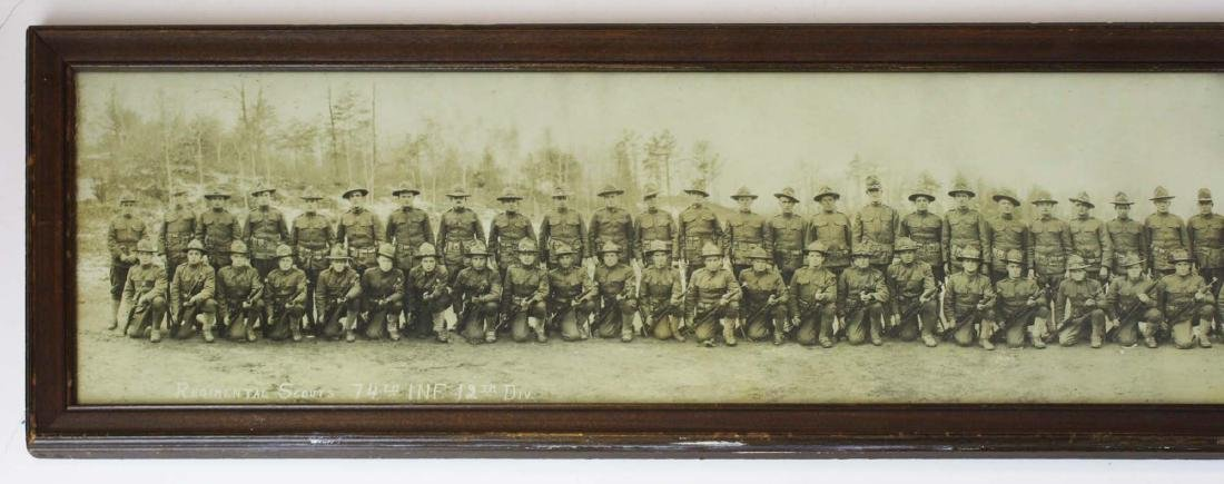 US WWI 74th Inf Reg Scouts long photo - 2