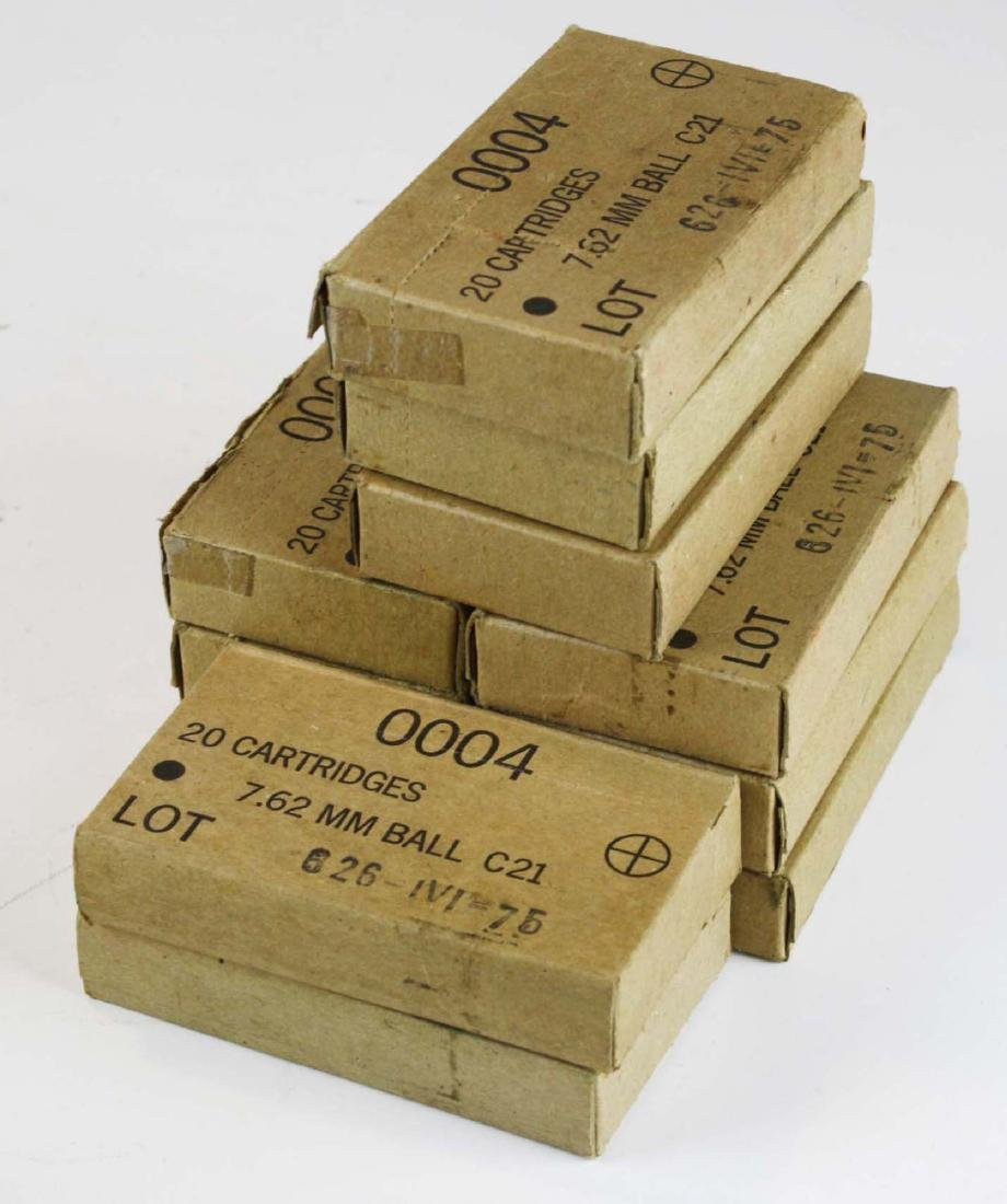 220 rounds of 7.62 mm ball cartridges