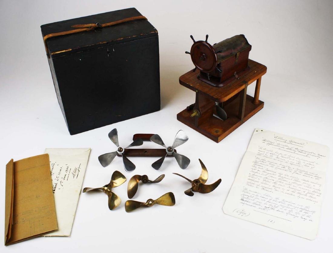 Patent model Hallidays steering apparatus ca 1880