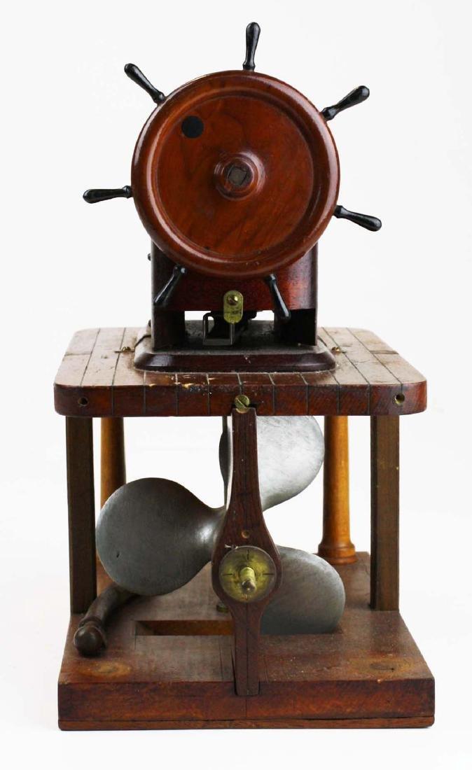 Patent model Hallidays steering apparatus ca 1880 - 3