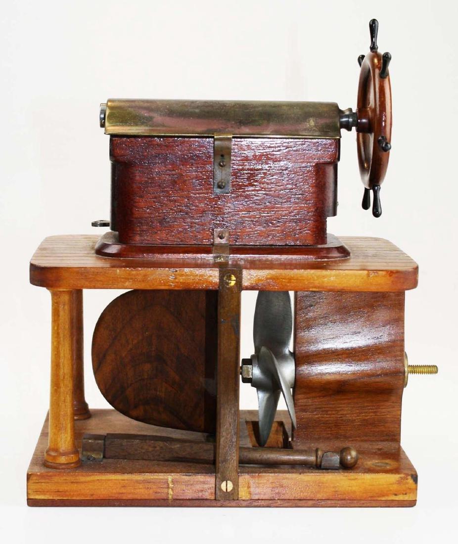 Patent model Hallidays steering apparatus ca 1880 - 9