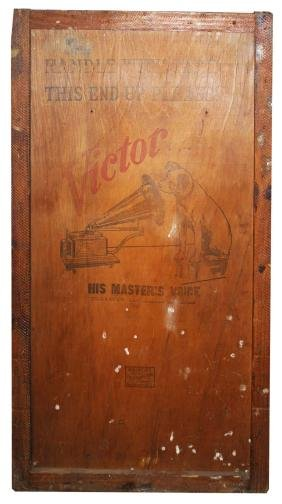 Two phonograph Advertising crate panels