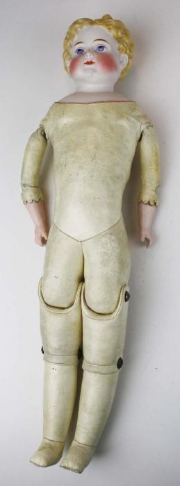 early molded Parian shoulderhead doll