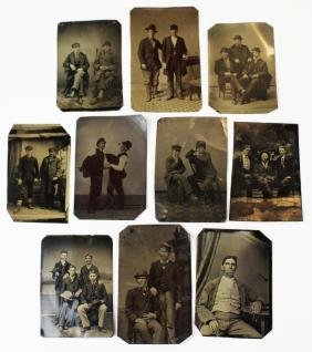 10 tintypes of smokers