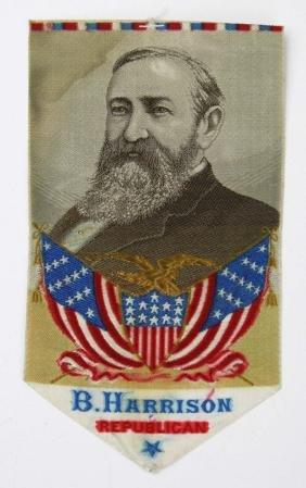 1888 B Harrison Republican ribbon