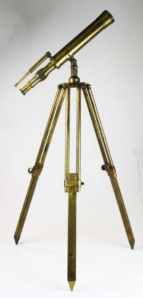 Thomas Evans London Brass telescope & stand