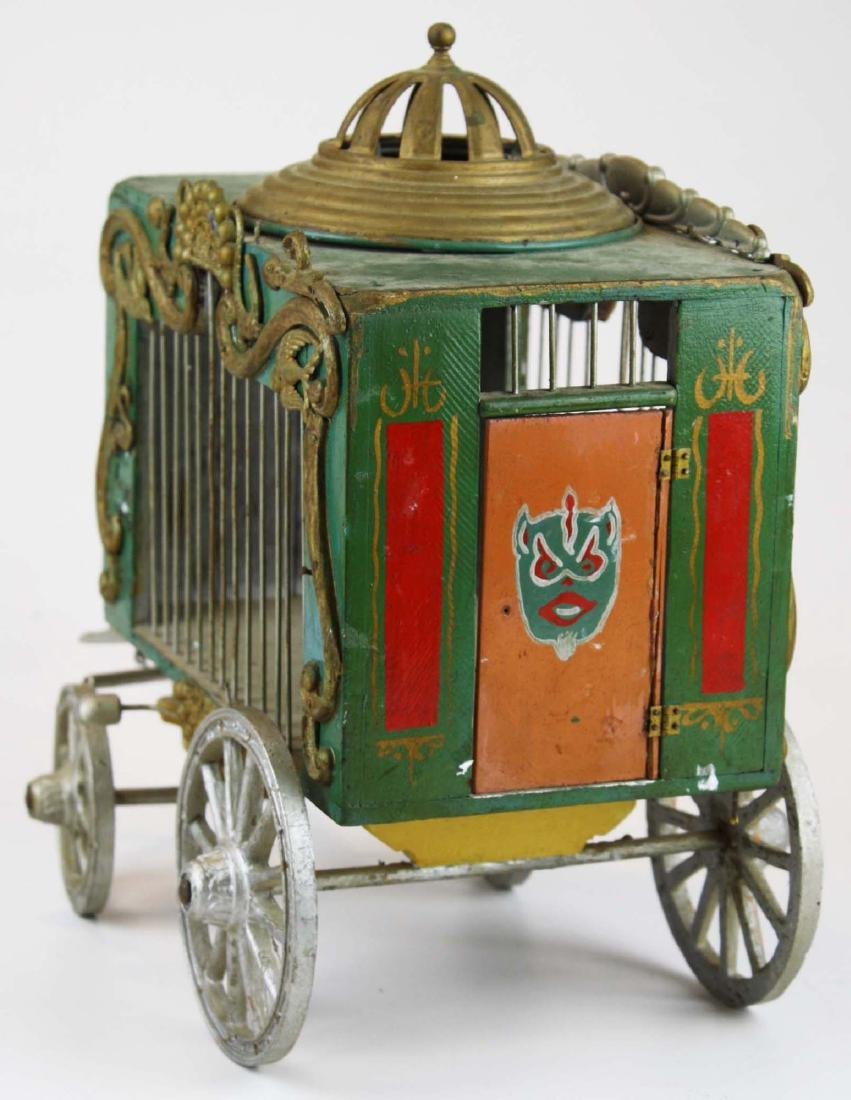 early 20th c folk art toy overland circus wagon