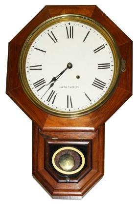 Seth Thomas octagonal regulator clock
