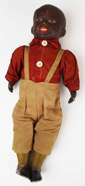 "1911 Horsman ""Cotton Joe"" black doll"