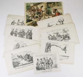 eight Civil War Era political cartoons
