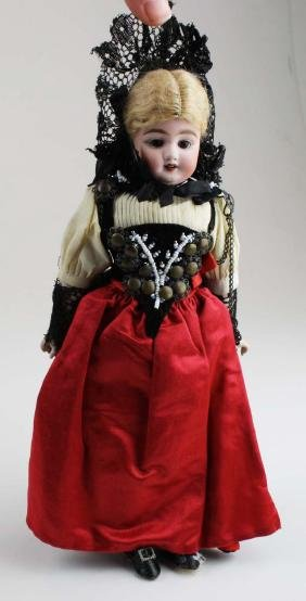 German bisque shoulderhead fashion doll