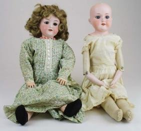 2 German Armand Marseille bisque dolls