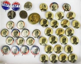 Lot of McKinley and Taft buttons