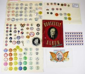 1936,1940,1944 Roosevelt and Willkie buttons