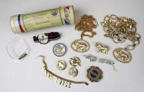 Richard Nixon Costume Jewelry