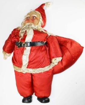 1930's cloth mask face Santa Claus